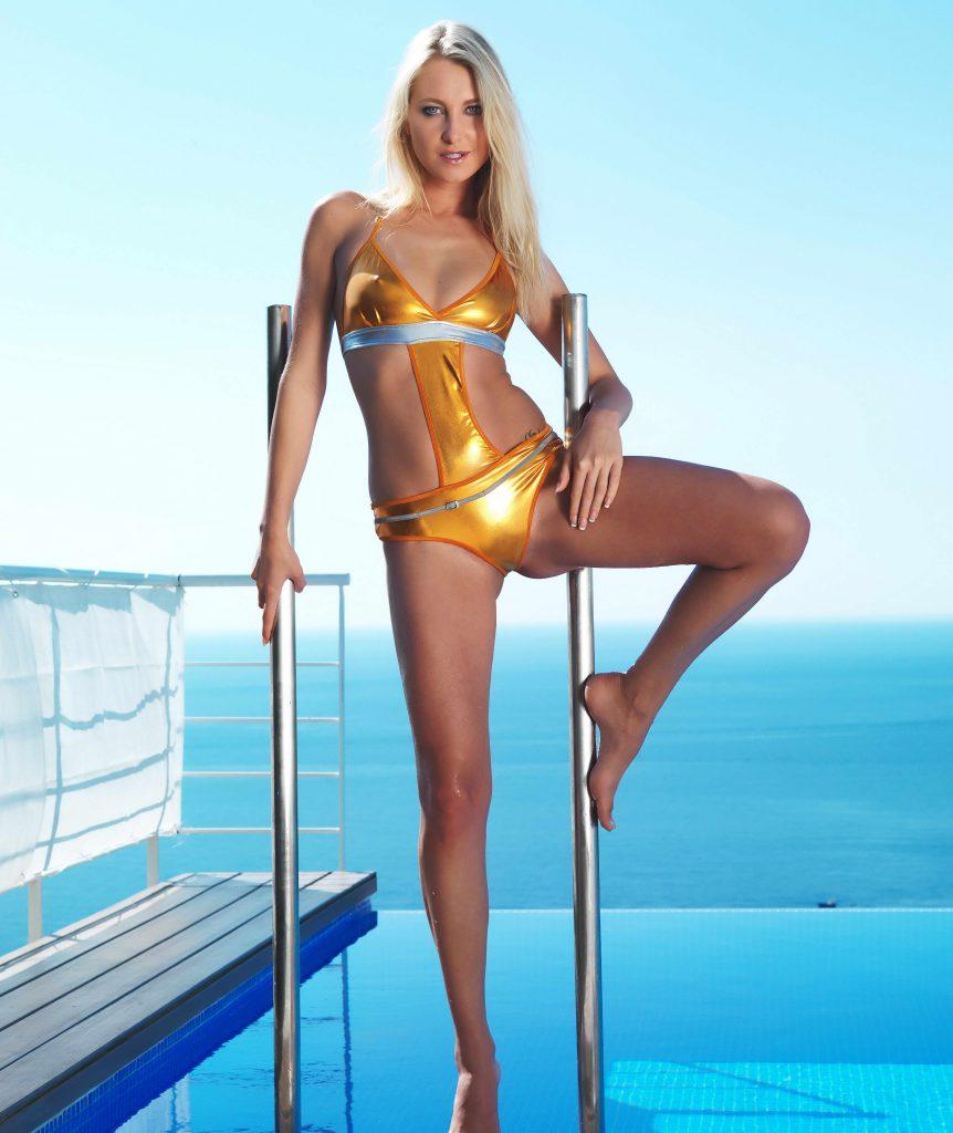 Erotic Posing Blonde